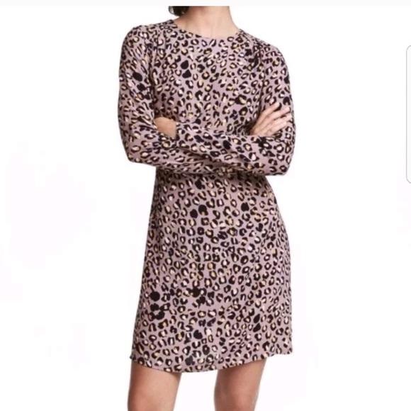 87022f566520 H&M Dresses | Hm Purple Leopard Print Dress | Poshmark